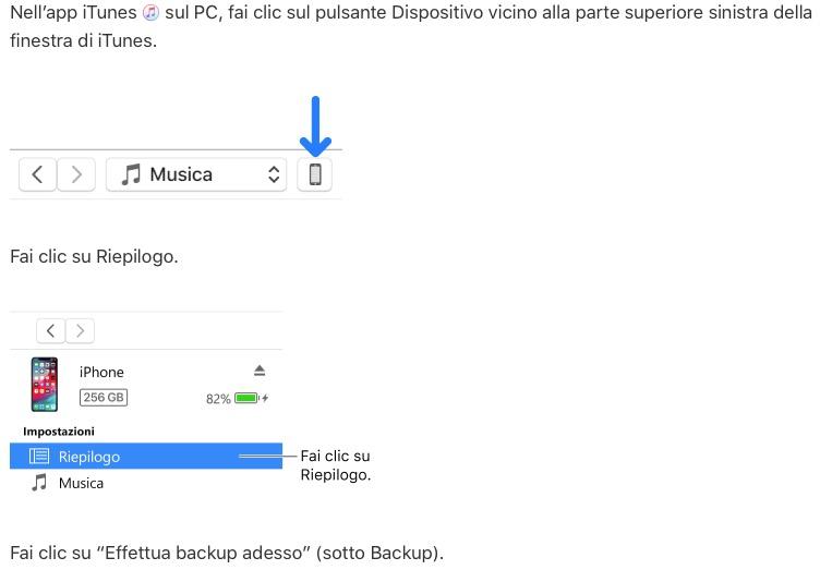 Tips per lavorare on-line - Backup iTunes di iPhone in Hard Disk esterno 8