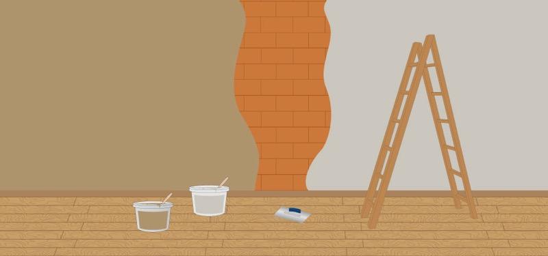 Finitura interna parete - intonaco a base argilla 6,40€/mq per cm di spessore 4