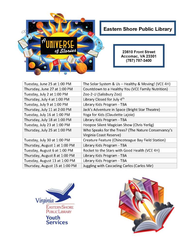 Summer program schedule