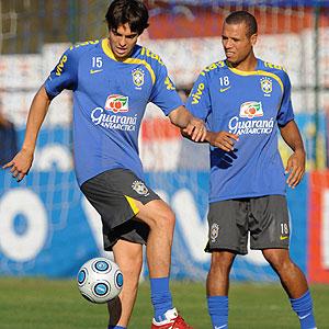 Kaká y Luis Fabiano