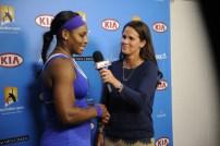 Mary Joe Fernandez and Serena Williams - Australian Open - January 21, 2012