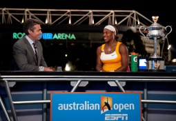2010 -- Chris Fowler and Serena Williams
