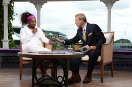 Serena Williams and Tom Rinaldi - 126th Wimbledon Championships - July 8, 2012
