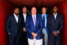 Los Angeles, CA - August 13, 2016 - LA Coliseum: Portrait of Charles Woodson, Trent Dilfer, Chris Berman, Matt Hasselbeck and Randy Moss for Monday Night Countdown (Photo by Scott Clarke / ESPN Images)