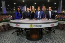 Atlanta, GA - December 3, 2016 - Georgia Dome: Maria Taylor, Tim Tebow, Laura Rutledge, Marcus Spears and Paul Finebaum on the set of SEC Nation during the 2016 SEC Championship (Photo by Allen Kee / ESPN Images)