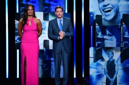 Los Angeles, CA - July 11, 2017 - The Novo by Microsoft: Laila Ali and Mike Greenberg during The Sports Humanitarian of the Year Awards presented by ESPN (Photo by Scott Clarke / ESPN Images)