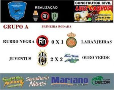 Copa Artur-Holambra - Primeira rodada resultado1