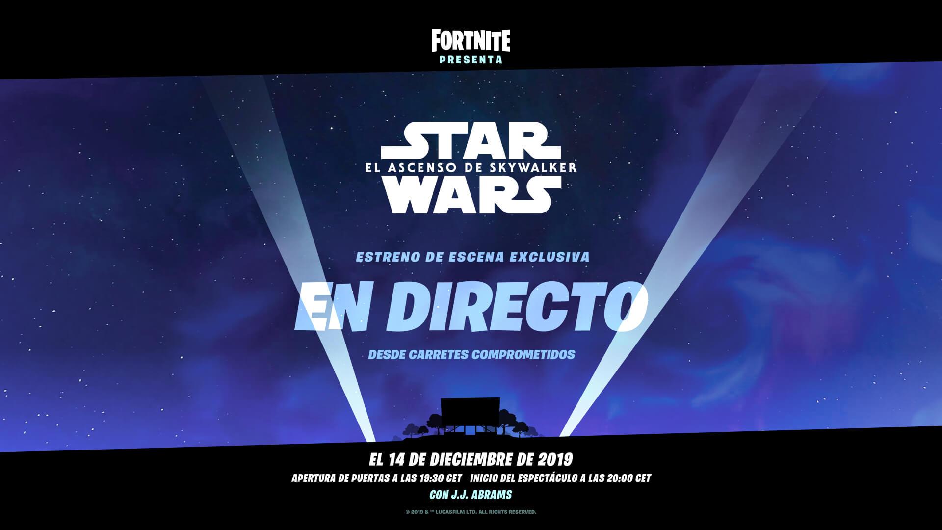 Epic Games amenaza a los filtradores para que no destripen el evento de Star Wars de Fortnite