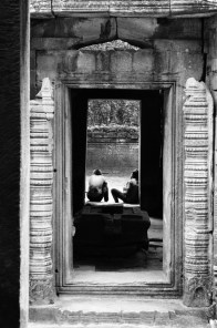 The Angkor temples allow the meditation. Siem Reap, Cambodia (2014)