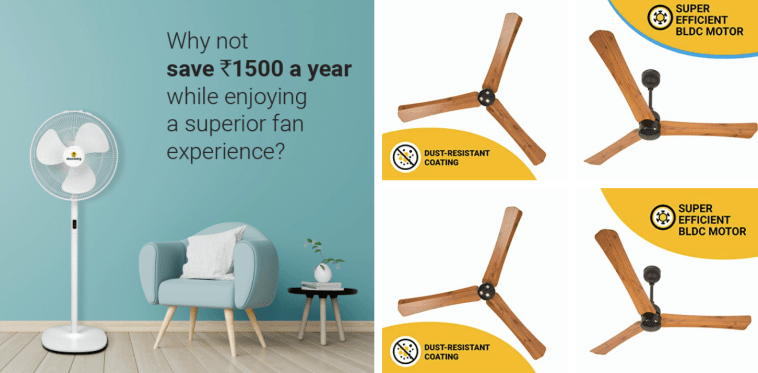 Atomberg fans energy efficient fan in india