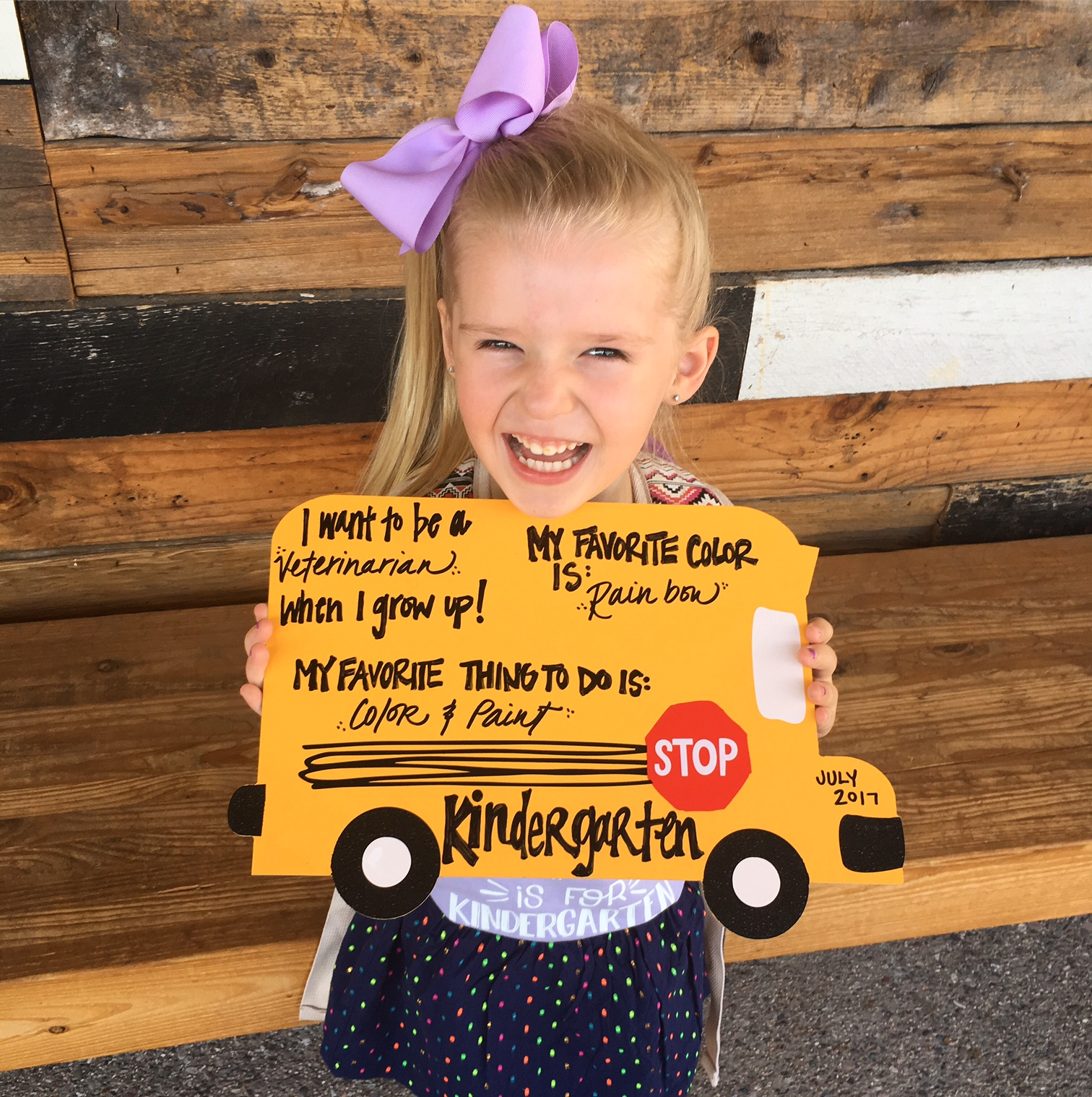 My Wish For You On Your First Day Of Kindergarten