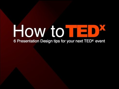 How to TEDx Presentation Design Tips
