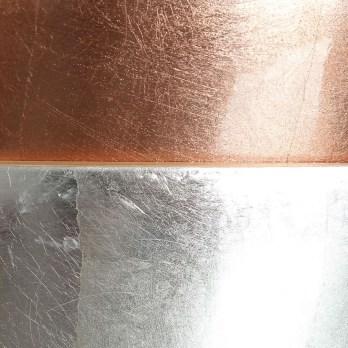 Plateau ovale en bambou et couleur cuivre