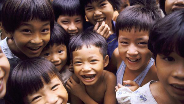 Sourires des enfants vietnamiens