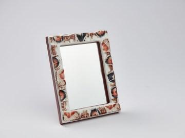 Miroir en mosaïque de porcelaine anglaise