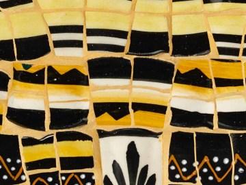 Détail du Tableau Henriot mosaïque jaune et noir