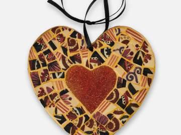 Coeur Henriot rouge et jaune