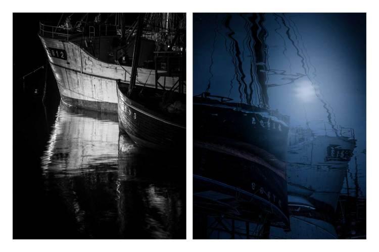 Dipthyque bateau au clair de lune