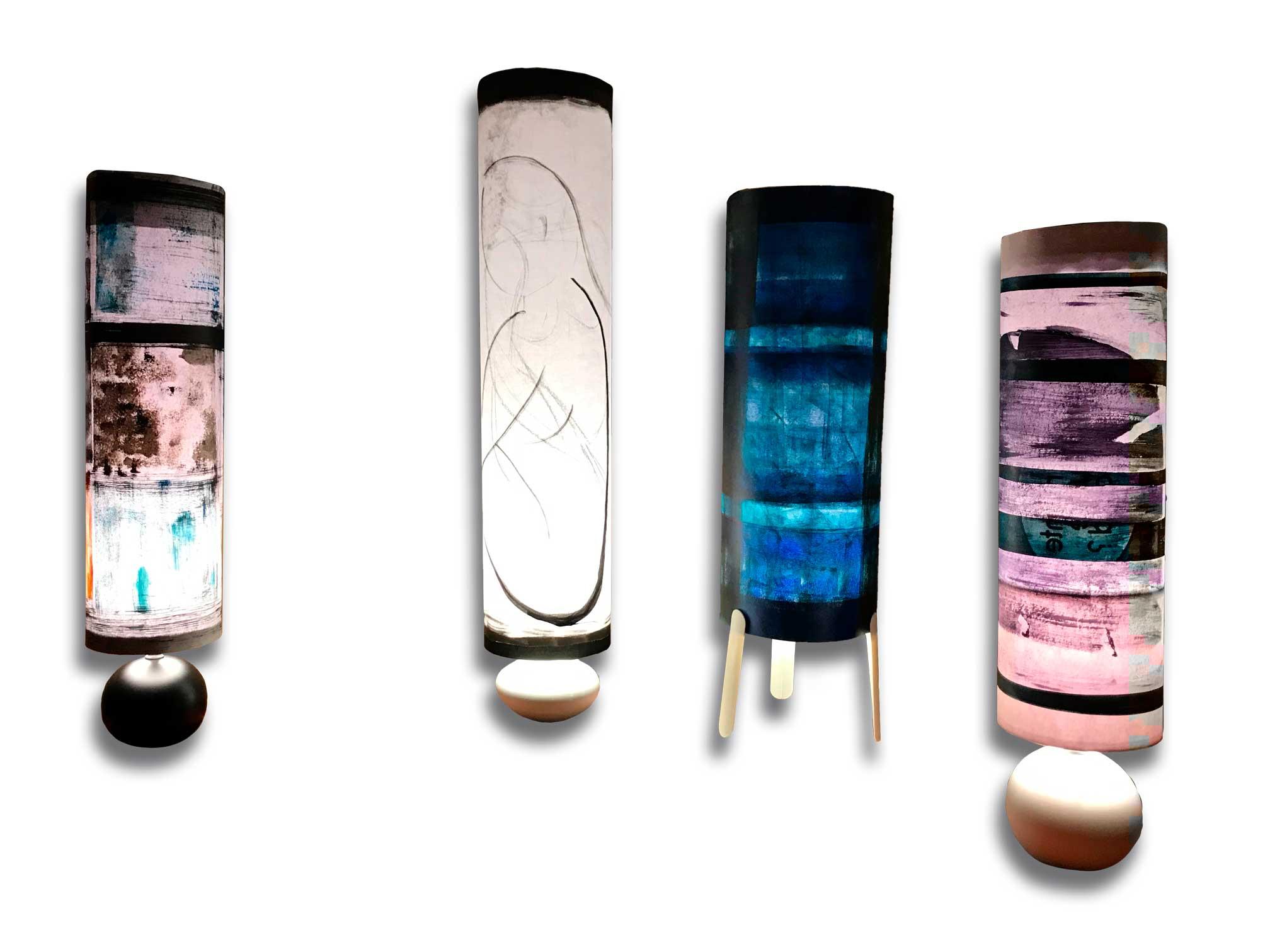 Présentation de quatre Lampes de Créateur