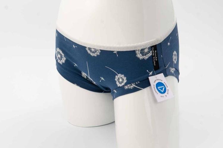 Culotte bleu avec motif aigrettes de Pissenlit