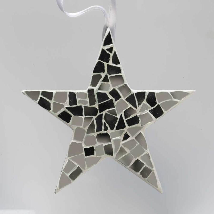étoile mosaïque miroir