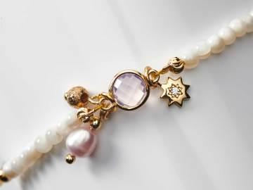 Bracelet enfant en perles de culture d'eau douce et breloque étoile