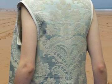 Gilet femme sans manche bleu clair