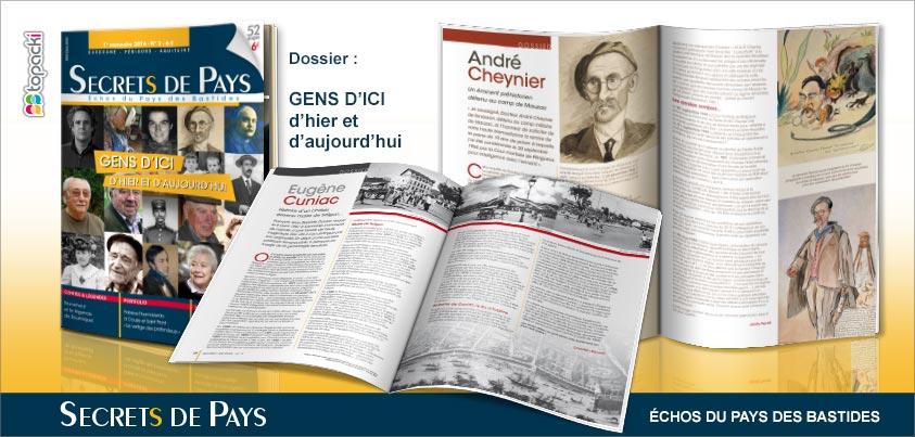 Le numéro 3 de « Secrets de Pays » et son dossier thématique « Gens d'ici, d'hier et d'aujourd'hui »…