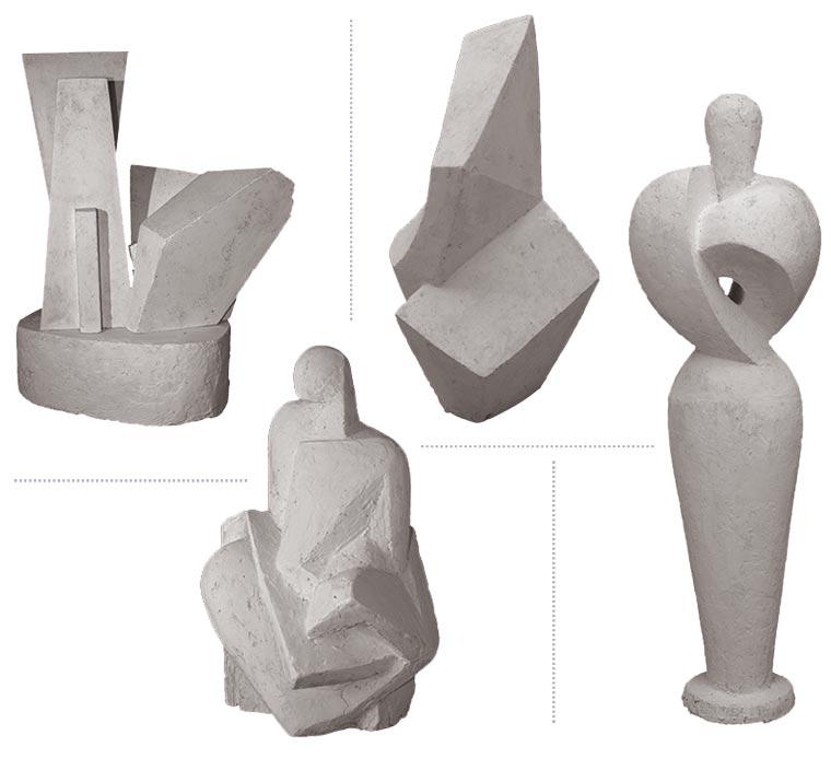 Quelques sculptures… Henri Courroy passe du figuratif au géométrisme ou à l'abstraction sans préjugé