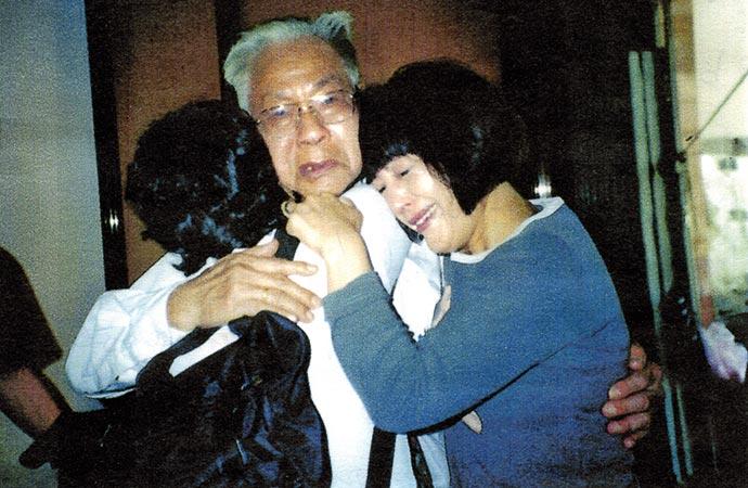 Rencontre avec l'oncle au Viêt Nam, en 2003