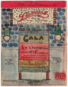 La couverture du numéro 74 de « La Rosse», journal de poilus de la Grande Guerre