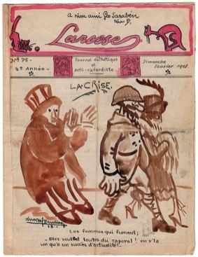 La couverture du numéro 75 de « La Rosse», journal de poilus de la Grande Guerre