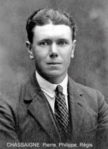 Régis Chassaigne, membre du maquis A.S. Cerisier de Lalinde, fusillé par les Allemands à Mouleydier, le 21 juin 1944.