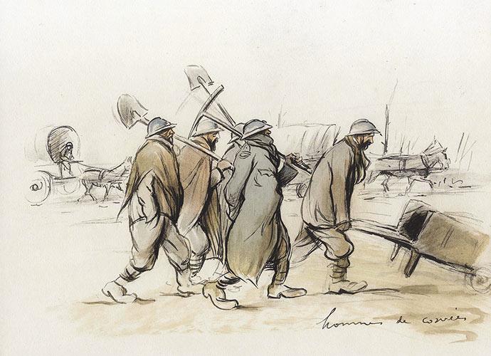 sem-caricaturiste-hommes-corvee-1915