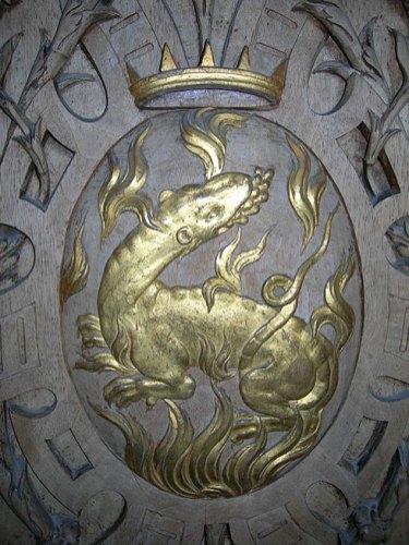 La salamandre, emblème du roi François Ier