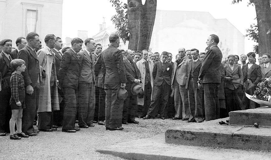 Sante Garibaldi, face au Maire de Bergerac, en mai 1939