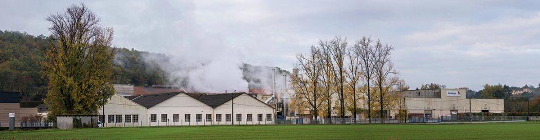 Les bâtiments de l'usine de Rottersac