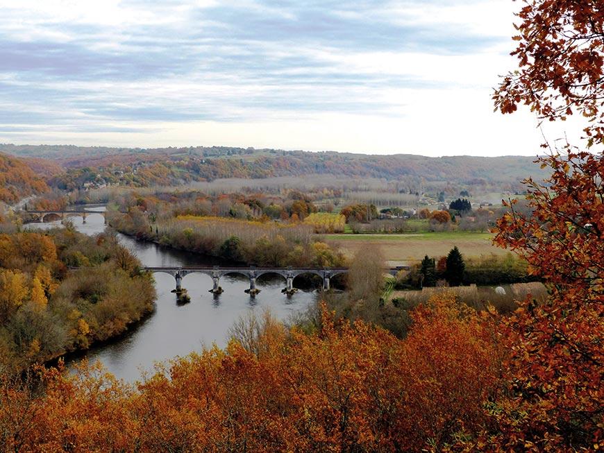 Les deux ponts du Buisson-de-Cadouin en Dordogne