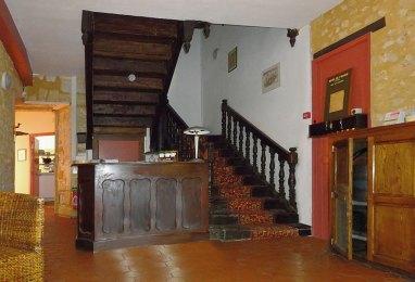 L'escalier de l'Hôtel de France à Monpazier où Lawrence séjourna