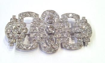 Broche en Platine sertie de Diamants
