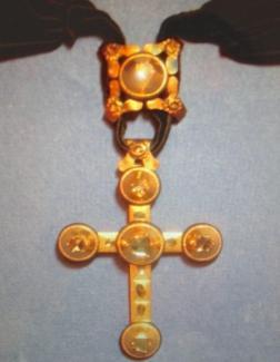 """Croix """"Capucine"""", Or et Diamants"""