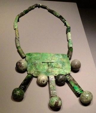 Pectoral sacré Chichen Itza, Yucatan, Mexique Jade 600-900 apr. J.-C.