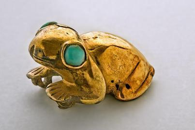 Grenouille en Or et turquoises Crédit Musée du Quai Branly