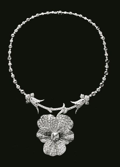 Collier Pensée Vers 1885 Platine, Diamants © Chaumet