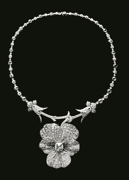Collier Pensée Vers 1885 Platine, Diamants © Chaumet