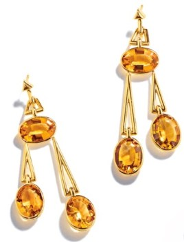 Pendulum Earrings Citrine, Gold © Belperron