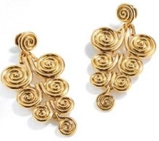 Spire Pendant Earrings Gold © Belperron