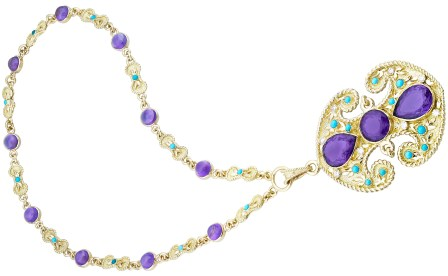 "Collier ""Byzance"" Améthystes, Turquoises, Or. 1972. © Van Cleef & Arpels"