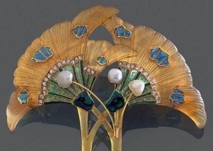 Georges Fouquet Corne, Émail, Diamants, Perles. 1905