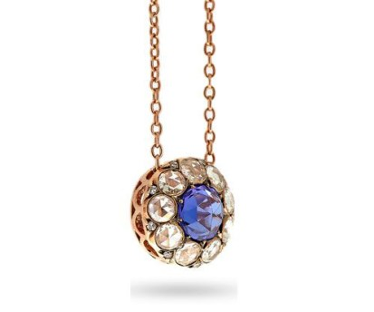 "Pendentif ""Beirut"" Tanzanite, Diamants, Or Rose"